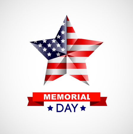illustrated: Memorial day poster. Illustration Patriotic United States of America for Memorial day, USA, Memorial day vector illustration