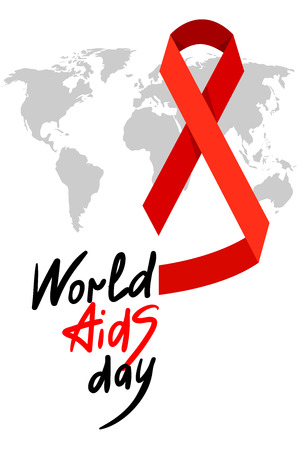 hiv awareness: World AIDS Day. 1st December World Aids Day poster with with calligraphic text AIDS Day . Vector AIDS Day illustration