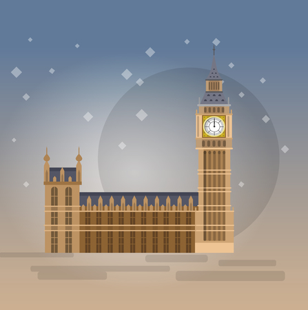 city of westminster: High quality, detailed most famous World landmark. Vector illustration of the Big Ben, the symbol of London and United Kingdom. Travel vector. Travel illustration. Travel landmarks. Happy travel