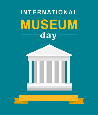 International Museum Day poster. Vector illustration Museum Day Illustration