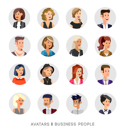 Cute cartoon seniors avatars set, male and female seniors, old people faces collection. Vector detailed seniors avatars , old people avatars, seniors avatars 矢量图像