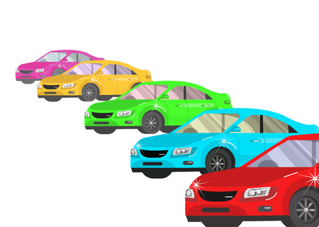 owner money: design concept of choice car and buying a car. Vector car, car cool flat, car  illustration isolated on white background.