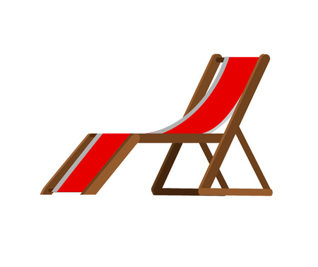 chaise longue: Vector detailed  beach chaise longue, beach chaise longue. Beach chaise longue isolated on white background. Beach chaise longue for summer background