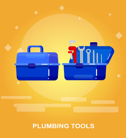 proffesional: detailed proffesional plumbing tool. Concept banner plumbing servise