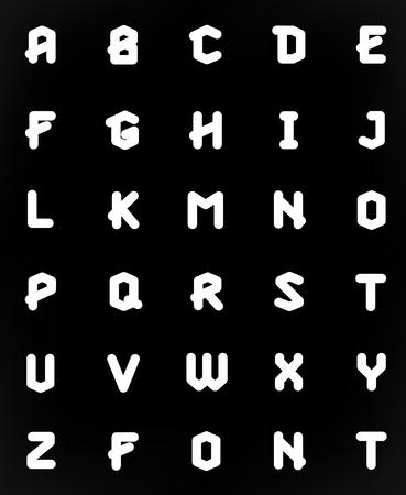 typographic: Polygonal geometric font. Creative Alphabet. Typographic Set