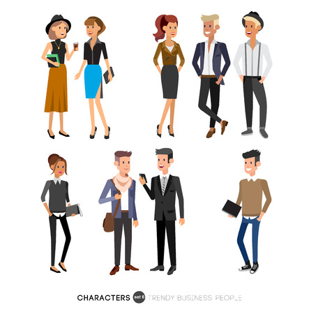 colleagues: Vector detailed characters people, business people men and women in action. Business people shake hands, with a briefcase, secretary, big boss, startup man, colleagues, business people lifestyle