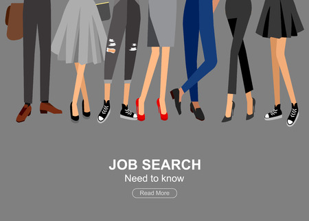 headhunter: Hiring process concept with candidate selection. Vector detailed character hiring process, Hiring process cool flat  illustration. Vector Hiring process concept