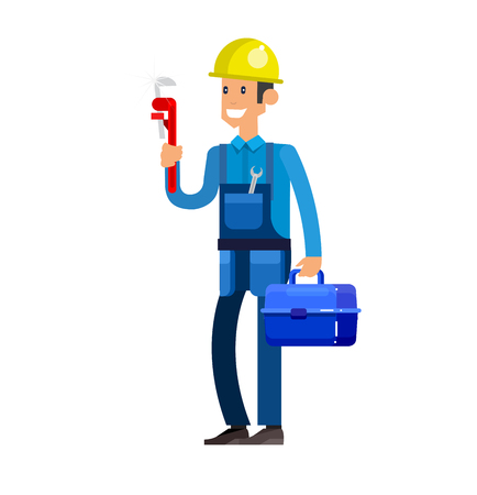 washstand: detailed character proffesional plumber men, plumber repair professional, plumber fixing water pipes. Vector plumber set. Illustration plumber character.
