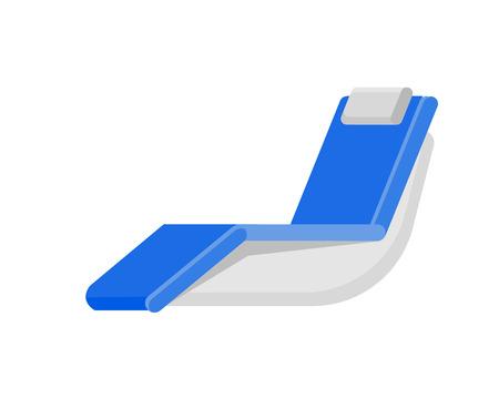 chaise: Vector detailed  beach chaise longue, beach chaise longue. Beach chaise longue isolated on white background. Beach chaise longue for summer background