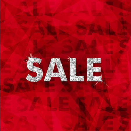 clothing stores: Christmas silver Sale typography. Merry Christmas text. Sale poster with silver typography elements