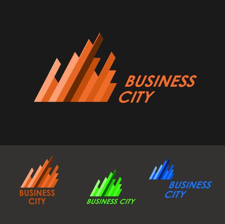 Icône d'affaires - entreprise société immobilière bâtiment CEO. Vector logo modèle de conception. logo Business modèle pour Real Estate, le courtage, la construction, les entreprises de rénovation. Graphiques professionnels.