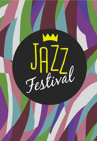jazz singer: Retro Jazz festival Poster, illustration of Jazz band and cool Jazz singer who is striking a stylish pose and playing a Jazz musical performance. Vector Jazz illustration