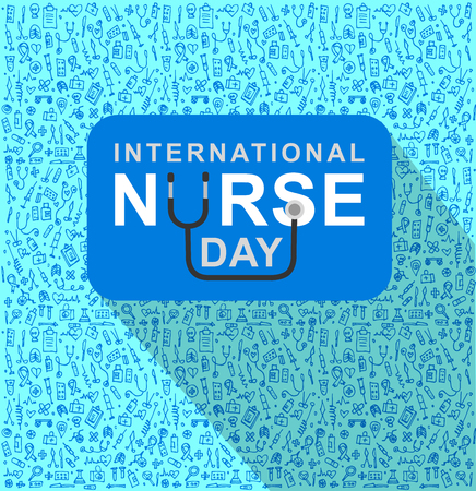 medical assistant: Vector illustration for International Nurse Day. Vector illustration for Nurse Day. Poster Nurse Day