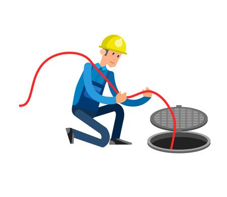 repair men: detailed character proffesional plumber men, plumber repair professional, plumber fixing water pipes. Vector plumber set. Illustration plumber character.