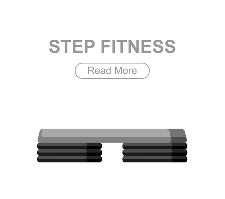 step fitness: Step for aerobics training. Step fitness vector illustration Illustration