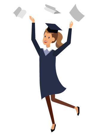 exam preparation: Vector character graduate and students, university students graduation. University courses and exam preparation, vector graduate, illustration graduate