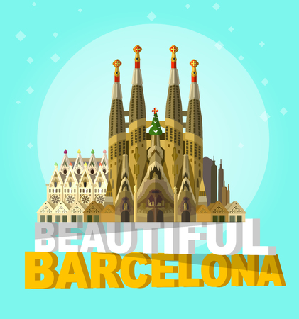impressive: High quality, detailed most famous World landmark. the impressive cathedral. Travel vector. Travel illustration. Travel landmarks