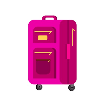 travel bag: Travel bag. Luggage or Travel  bag isolated on white background. Vector travel bags. Illustration bag. Vector bag Illustration