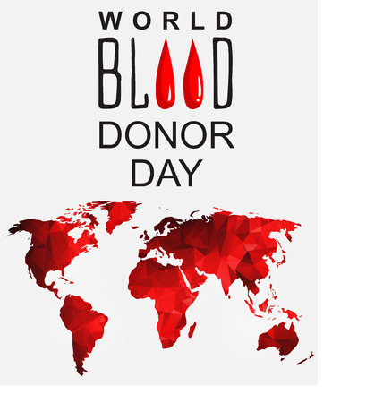 14th: World blood donor day-June 14th. vector . World blood donor day card. Illustration of World blood donor day Illustration