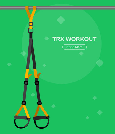 Vector detailed character Fit woman and TPX training. Happy and sporty woman illustration. Woman goes in for sports, TPX training for Woman