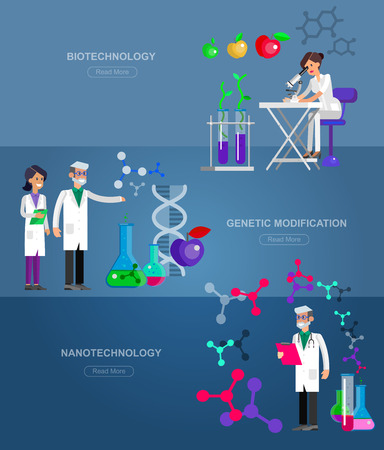 modification: Detailed character men woman scientis, laboratory technician scientis looking through a microscope, Biotechnology scientis, genetic engineering scientis, nanotechnology and genetic modification