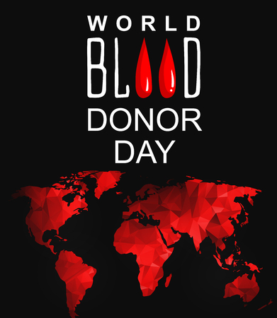 observance: World blood donor day-June 14th. vector . World blood donor day card. Illustration of World blood donor day Illustration