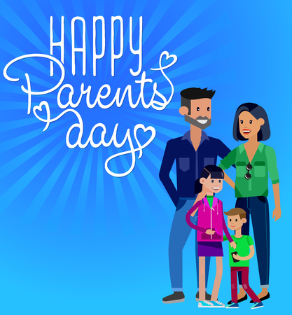 poster designs: Happy Parents day background. Happy Parents day card. Calligraphy lettering for Parents day. Parents day vintage lettering background