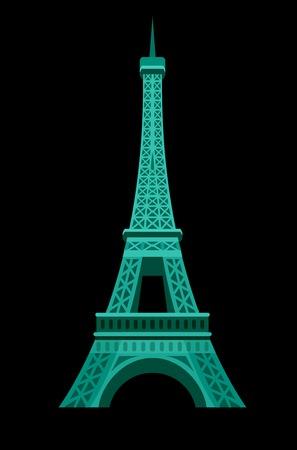 Hohe Qualität, detaillierte berühmtesten Wahrzeichen der Welt. Ein Bild von Paris Eiffel Tower Icon. Paris Eiffelturm Karte. Reise-Vektor Vektorgrafik