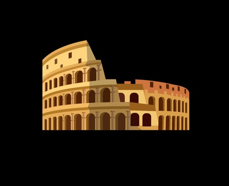 High quality, detailed most famous World landmark. Coliseum in Rome, Italy. Colosseum vector illustration. Travel vector