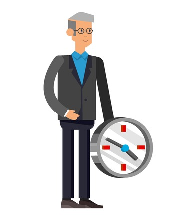 group of young adults: Vector detailed character office worker isolated on white background, business men lifestyle Illustration