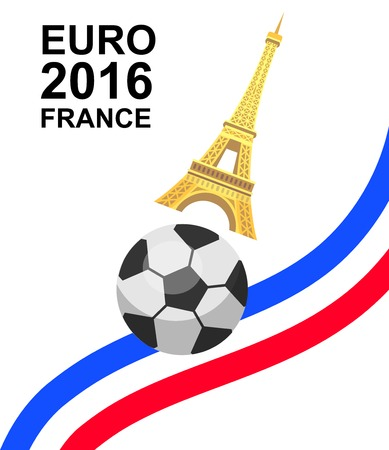Euro 2016 France football championship with ball