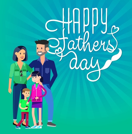 fathers day background: Happy fathers day background. Calligraphy lettering illustration