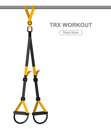 TPX ループ トレーニング機器。スポーツ ベクトル概念
