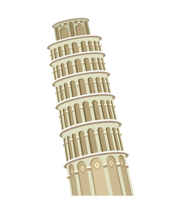 leaning tower of pisa: High quality, detailed most famous World landmark. Leaning Tower of Pisa, Italy, Europe. Travel vector