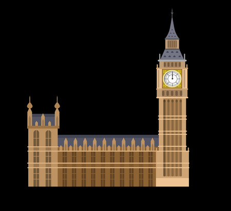 bigben: High quality, detailed most famous World landmark. Vector illustration of the Big Ben, the symbol of London and United Kingdom. Travel vector
