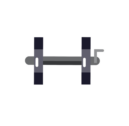 gym equipment: gym barbell equipment, quotes design elements. Sport and fitness icon Illustration
