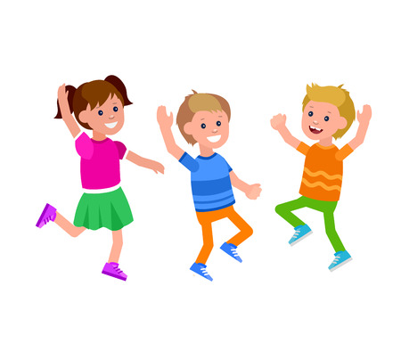 Cute vector character child play. Vector for Celebration children day