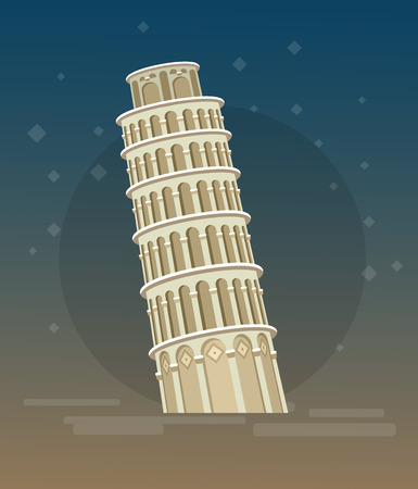 leaning tower: High quality, detailed most famous World landmark. Leaning Tower of Pisa, Italy, Europe. Travel vector