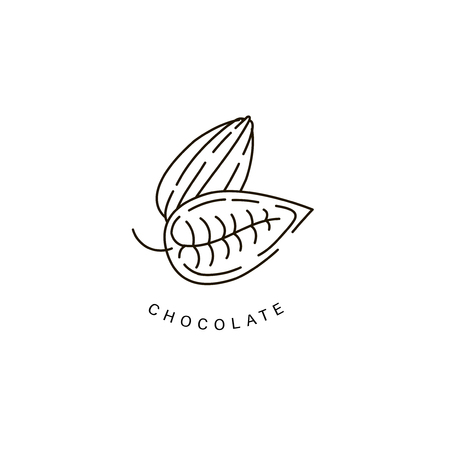 Vector icon and logo for chocolate and sweet. Editable outline stroke size. Line flat contour, thin and linear design. Simple icons. Concept illustration. Sign, symbol, element. Stock Vector - 113853796