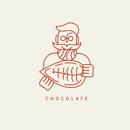 Vector icon and logo for chocolate and sweet. Editable outline stroke size. Line flat contour, thin and linear design. Simple icons. Concept illustration. Sign, symbol, element. Stock Vector - 113853798