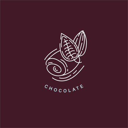 Vector icon and logo for chocolate and sweet. Editable outline stroke size. Line flat contour, thin and linear design. Simple icons. Concept illustration. Sign, symbol, element. Stock Vector - 113853823