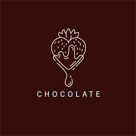 Vector icon and logo for chocolate and sweet. Editable outline stroke size. Line flat contour, thin and linear design. Simple icons. Concept illustration. Sign, symbol, element. Stock Vector - 113853825
