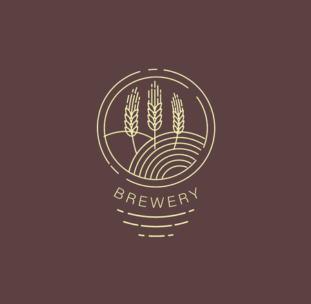 Vector icon and logo beer and brewery. Editable outline stroke size. Line flat contour, thin and linear design. Simple icons. Concept illustration. Sign, symbol, element.