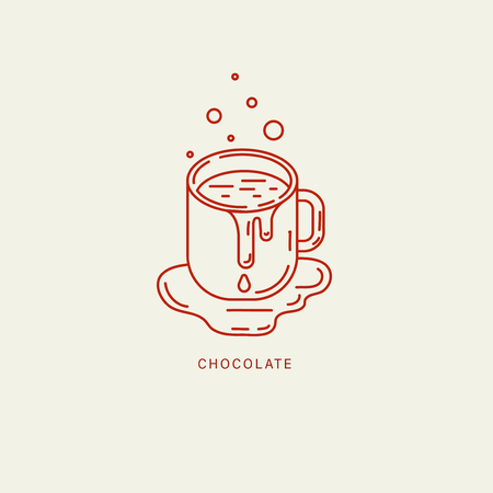 Vector icon and logo for chocolate and sweet. Editable outline stroke size. Line flat contour, thin and linear design. Simple icons. Concept illustration. Sign, symbol, element. Stock Vector - 113854137