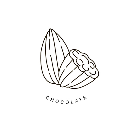 Vector icon and logo for chocolate and sweet. Editable outline stroke size. Line flat contour, thin and linear design. Simple icons. Concept illustration. Sign, symbol, element. Stock Vector - 113854139