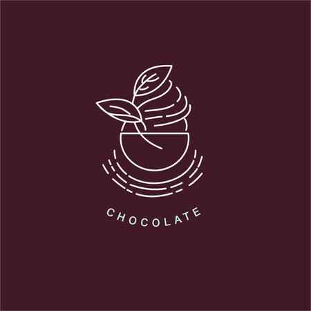 Vector icon and logo for chocolate and sweet. Editable outline stroke size. Line flat contour, thin and linear design. Simple icons. Concept illustration. Sign, symbol, element. Stock Vector - 113855496