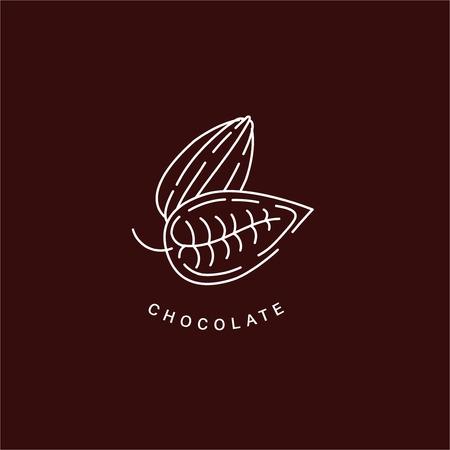 Icône vectorielle et logo pour le chocolat et le sucré. Taille de trait de contour modifiable. Ligne contour plat, design fin et linéaire. Icônes simples. Illustration de la notion. Signe, symbole, élément.