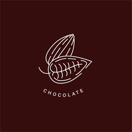 Vector icon and logo for chocolate and sweet. Editable outline stroke size. Line flat contour, thin and linear design. Simple icons. Concept illustration. Sign, symbol, element. 向量圖像