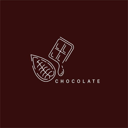 Vector icon and logo for chocolate and sweet. Editable outline stroke size. Line flat contour, thin and linear design. Simple icons. Concept illustration. Sign, symbol, element. Stock Vector - 113855566