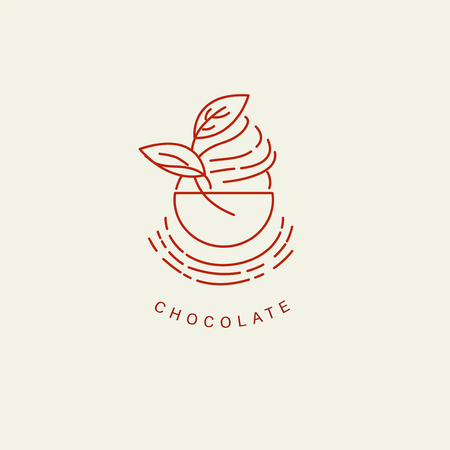 Vector icon and logo for chocolate and sweet. Editable outline stroke size. Line flat contour, thin and linear design. Simple icons. Concept illustration. Sign, symbol, element. Stock Vector - 113855759